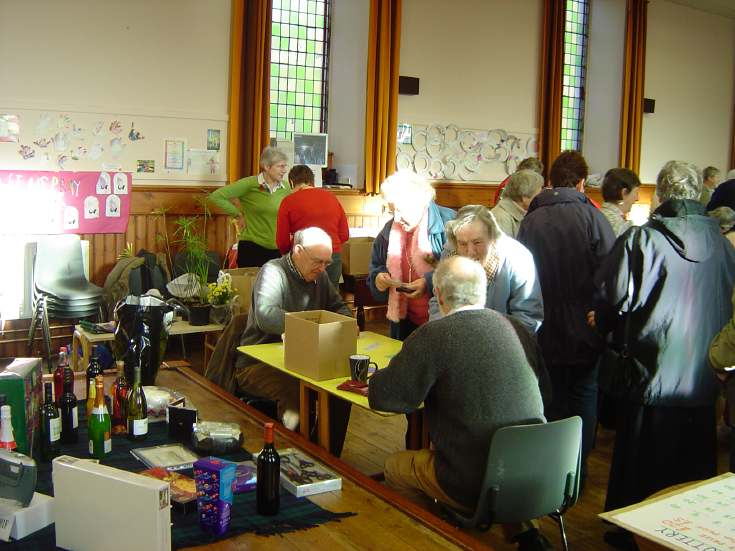 Raffle at Dornoch Heritage Society Coffee Morning 2006