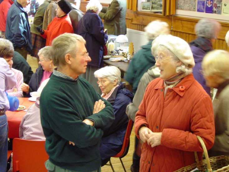 Peter Wild at Dornoch Heritage Society Coffee Morning 2006