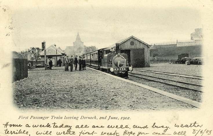 Dornoch Railway Station 1902