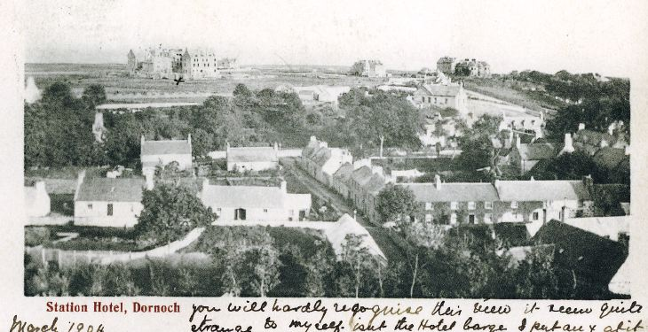View of Dornoch and Station Hotel