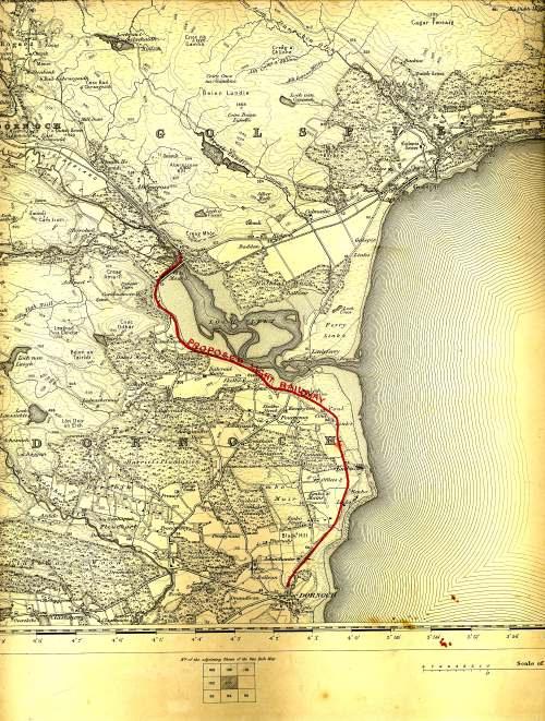Proposed route for Dornoch Railway