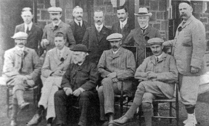 Group of men taken at a golfing occasion