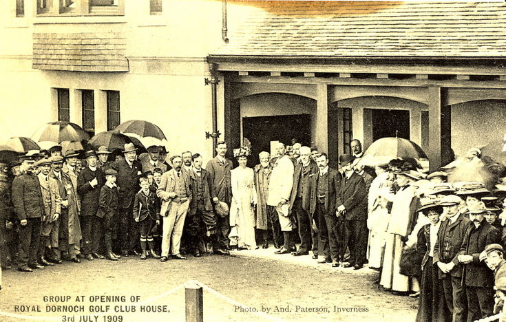 Opening of Royal Dornoch Clubhouse 1909
