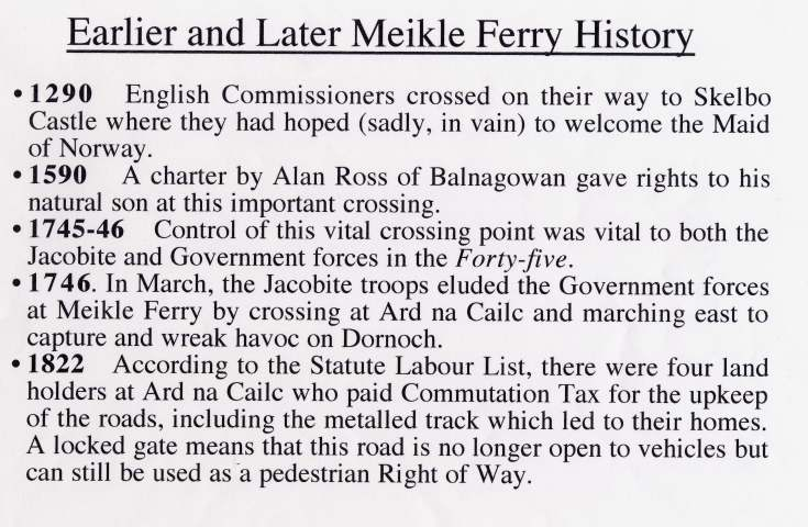 Meikle Ferry History
