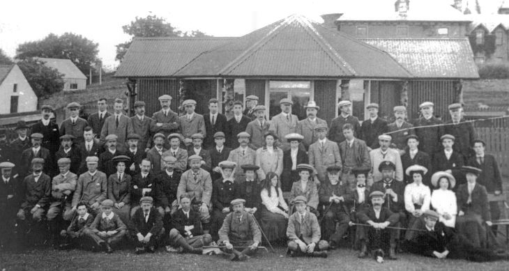 Group in front of Golf Club House 1900