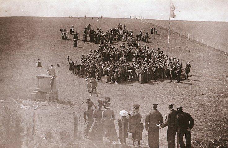 Cutting the first sod for Dornoch Light Railway