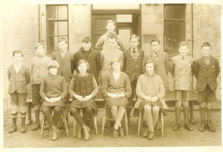 Dornoch Academy School photograph around 1930