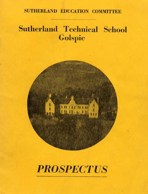 Prospectus Sutherland Technical School