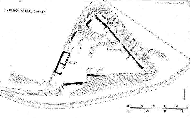 Skelbo Castle Site Plan