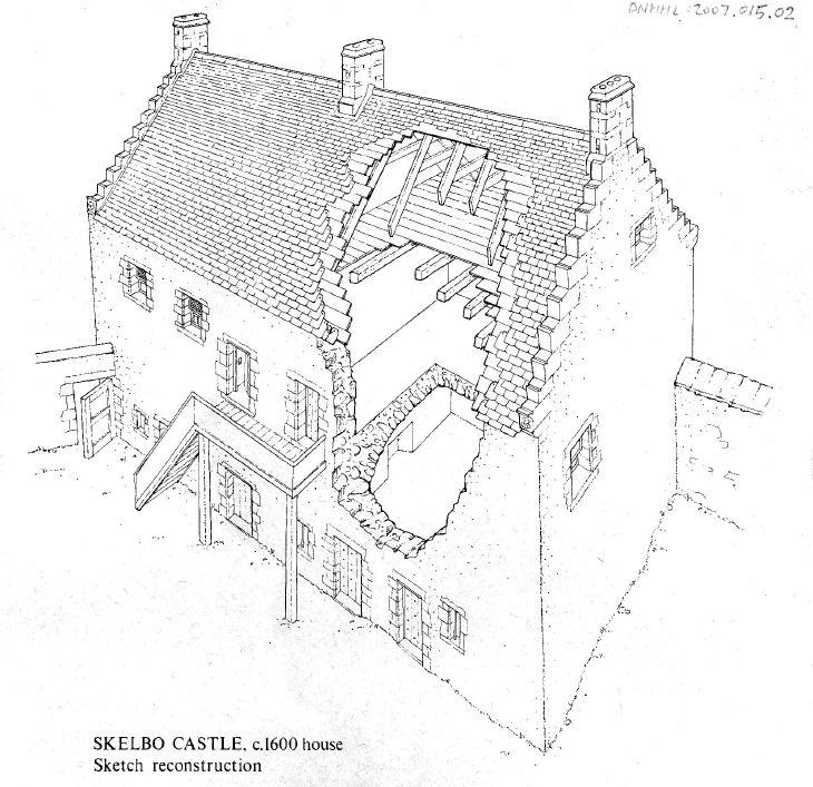Skelbo Castle Sketch Reconstruction