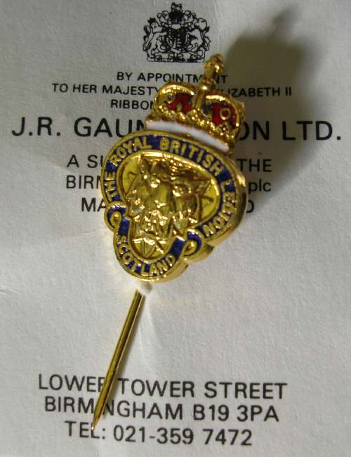 Royal British Legion Scotland stick pin