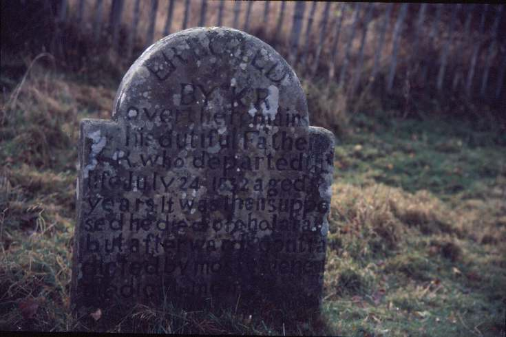 Dornoch cholera victim's headstone