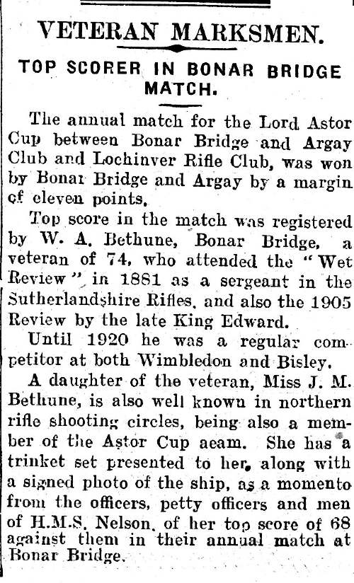 Report on Lord Astor Cup