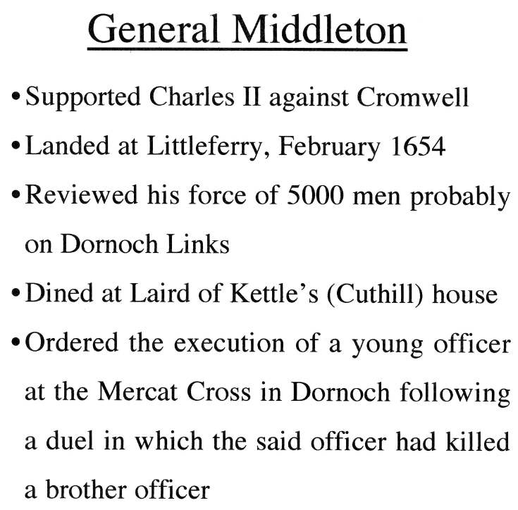 Information about General Middleton