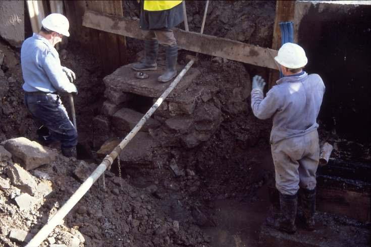 Dornoch Burn well excavation