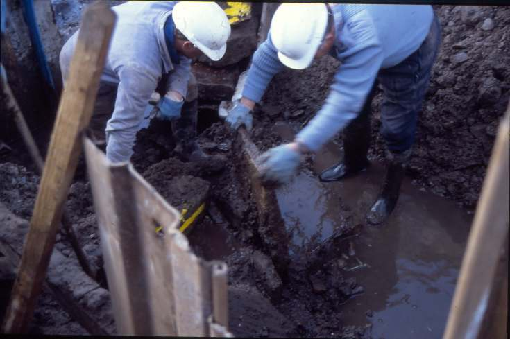 Dornoch Burn well excavation