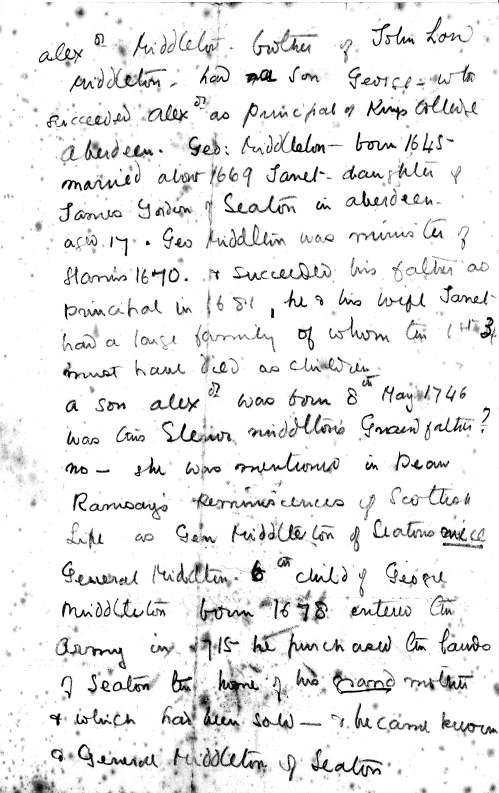 Genealogy of Middletons