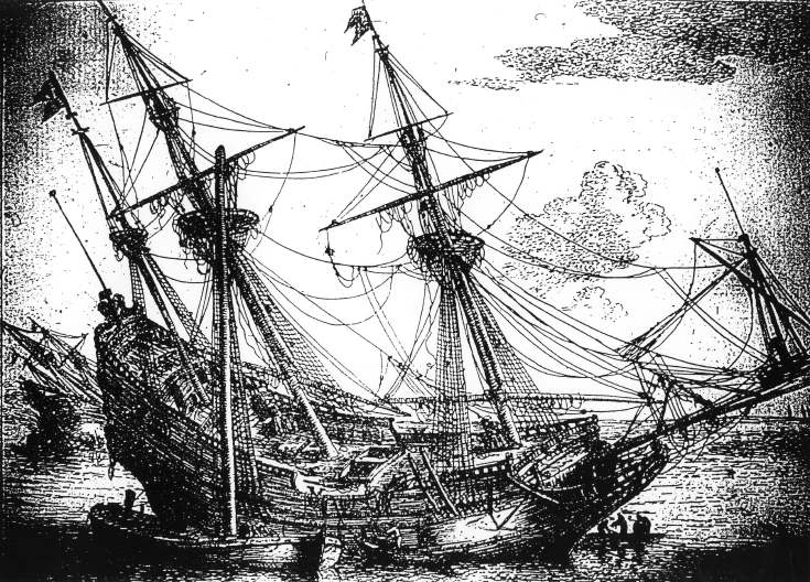 Picture of 18th century ship
