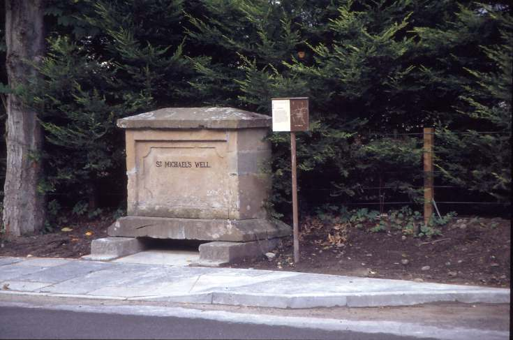 St Michael's well in new position 1992