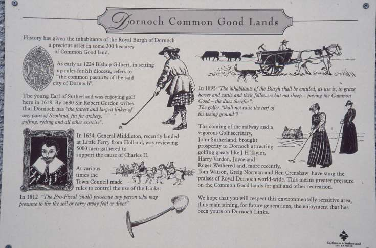 Common Good Land sign 1997