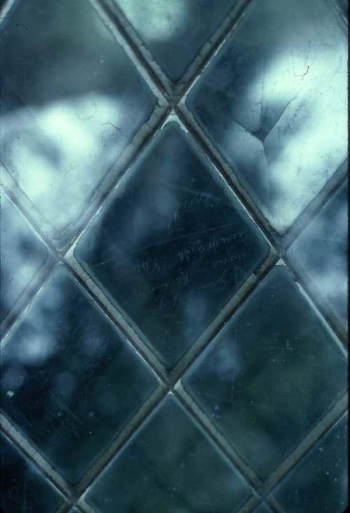 Croick church window 1979