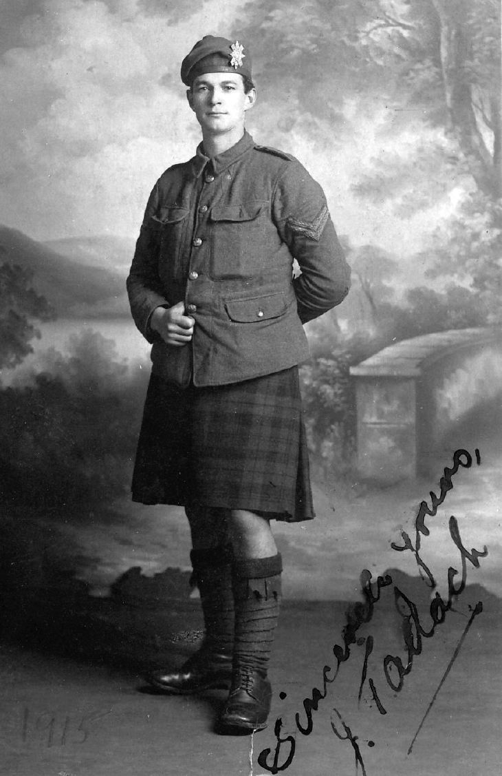 J Tallach in uniform
