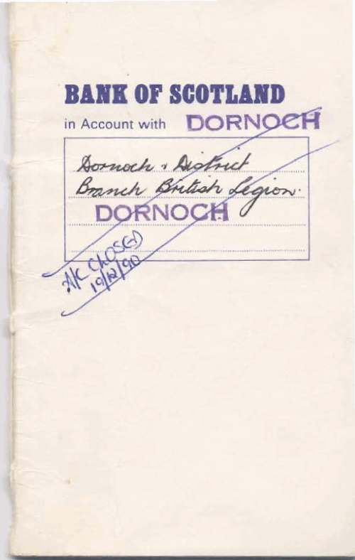 British Legion Deposit Account book