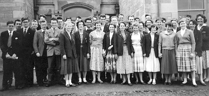 Dornoch Academy 5th & 6th year pupils 1959
