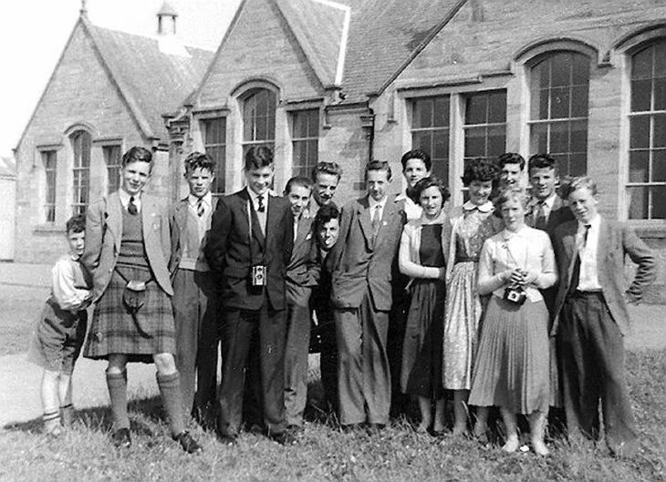 Dornoch Academy  5th & 6th year pupils 1958