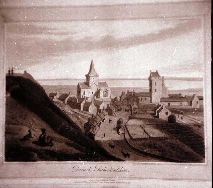 Daniell print of Dornoch