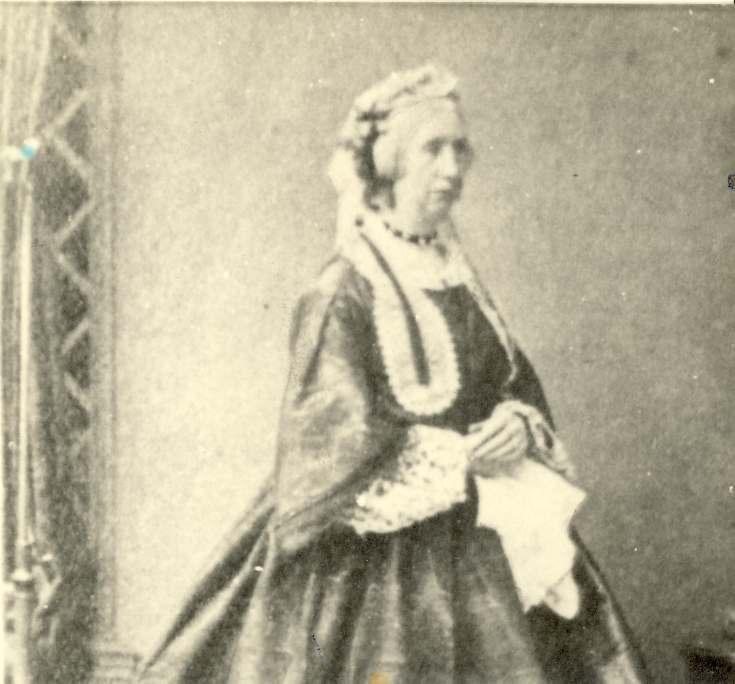 Woman in 19th century dress