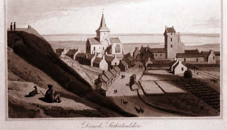 William Daniell print of Dornoch
