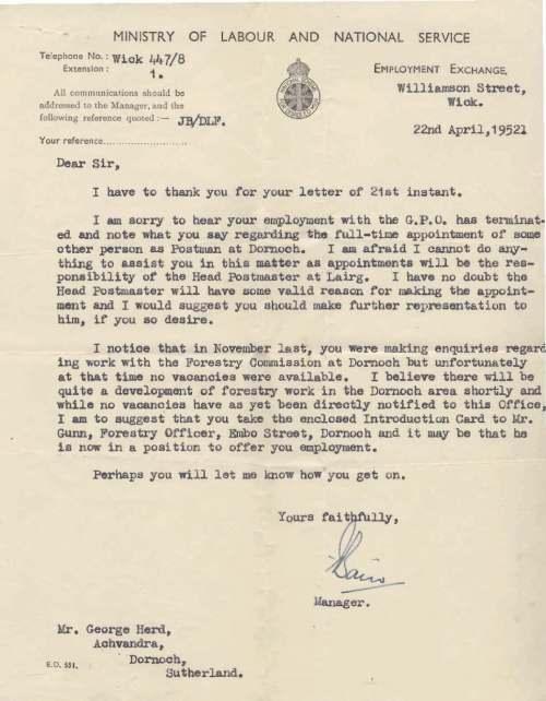 Royal British Legion Correspondence