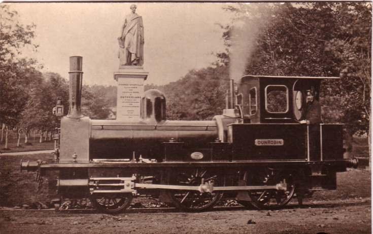 'Dunrobin' locomotive at Dunrobin Castle Station