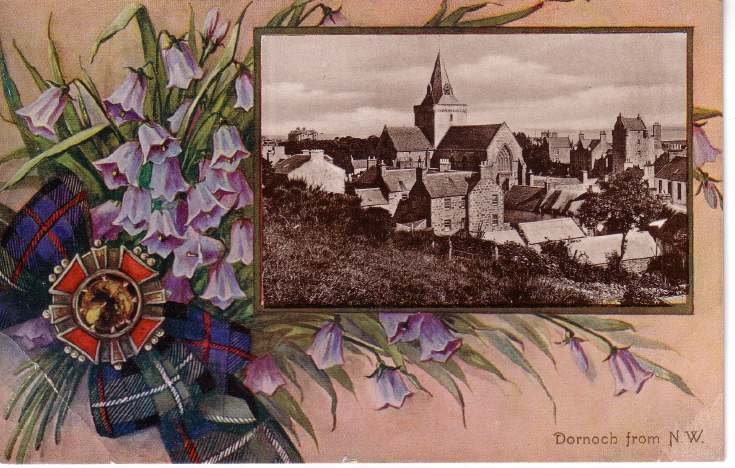 Decorated postcard