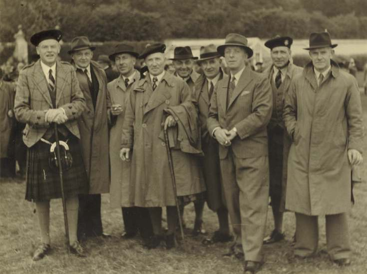 Photograph of group at Sutherland Show possibly at Dunrobin.