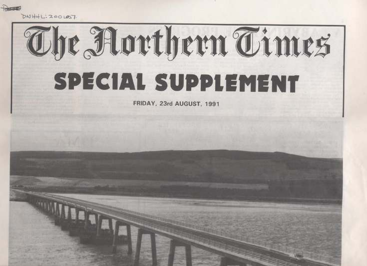 Dornoch Bridge Northern Times Special Supplement.