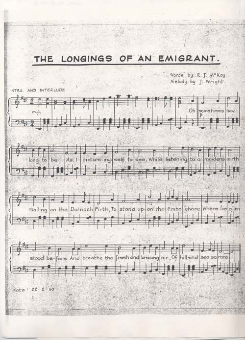 The Longings of an Emigrant