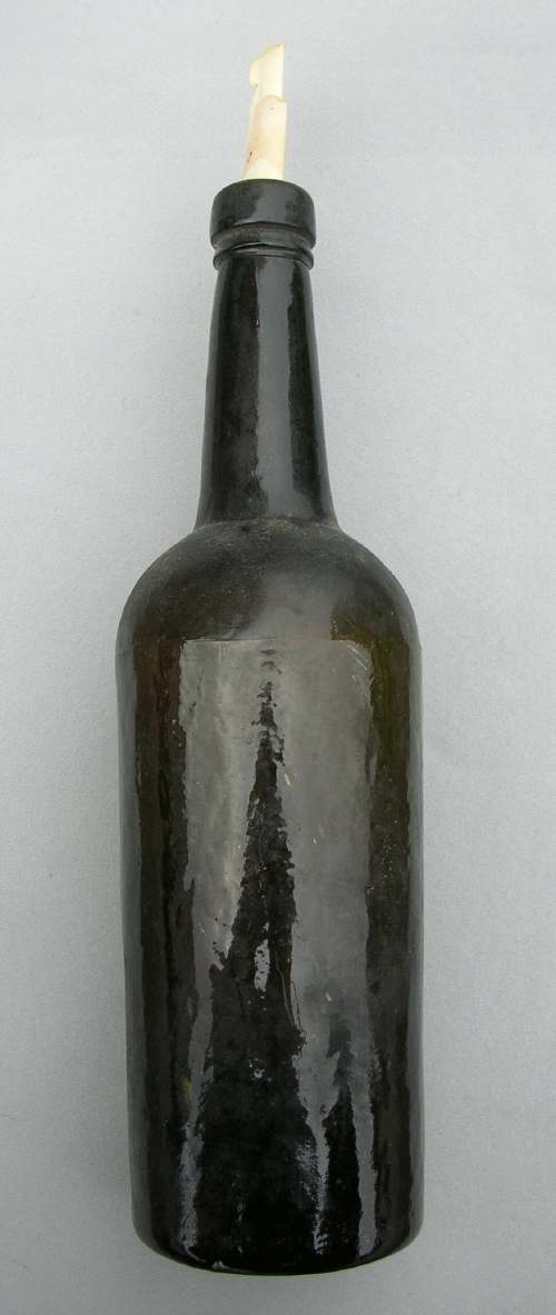 Whisky bottle with accompanying note