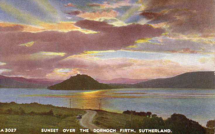 Sunset over the Dornoch Firth