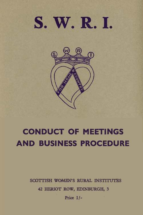 SWRI Conduct of Meetings and Business Procedures