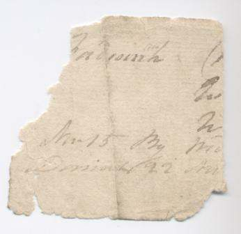 Fragment of receipt