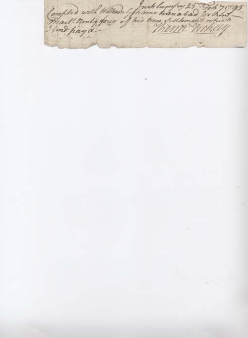 Rent receipt William Grahame 1795