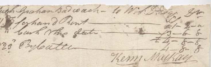 Rent receipt Hugh Graham 1806