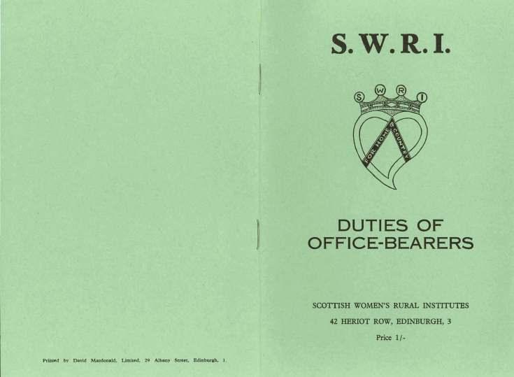 SWRI Duties of Office Bearers