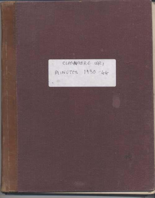 Clashmore SWRI Minute Book 1930-44
