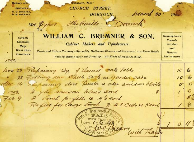William Bremner & Son account