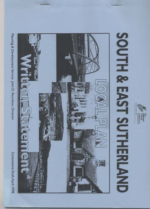 South & East Sutherland Local Plan 1998