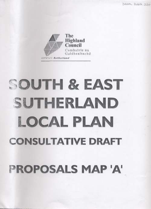 South & East Sutherland Local Plan Map A 1998