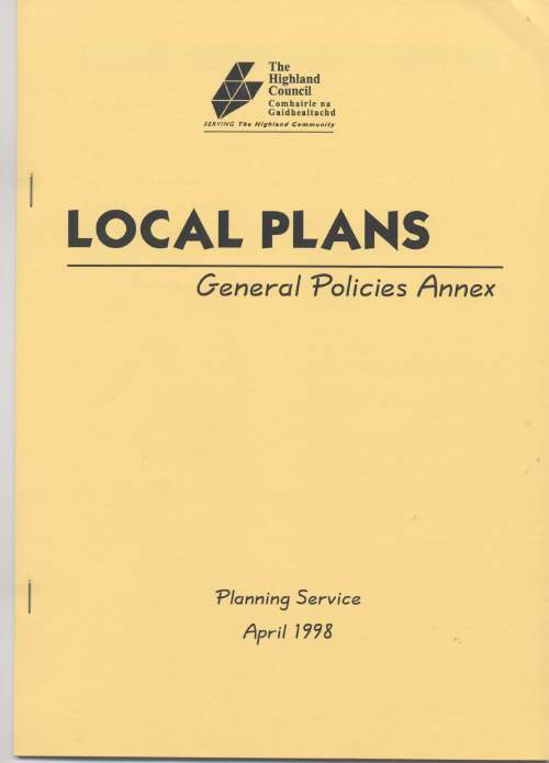 Local Plans General Policies Annex 1998